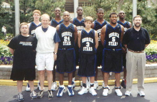 1999 Georgia Stars ~ 17U 1999 Georgia Stars ~ 15U ~ 36-9 AAU State Champions National Championship - 6th Place Charlotte Invitational - Runner-Up Marietta Magic - Champions A.B.C. Classic - Runner-up Front Row L to R: Coach Dan Searl, Brian Watts, Clinton Kent, John Harris, Ryan Perkins, Coach Matt Linick, Coach Norman Parker. Back Row L to R: Derrick Broom, Quentin Moses, Stephen Warner, Rashun Bryant, Julian Jenkins.